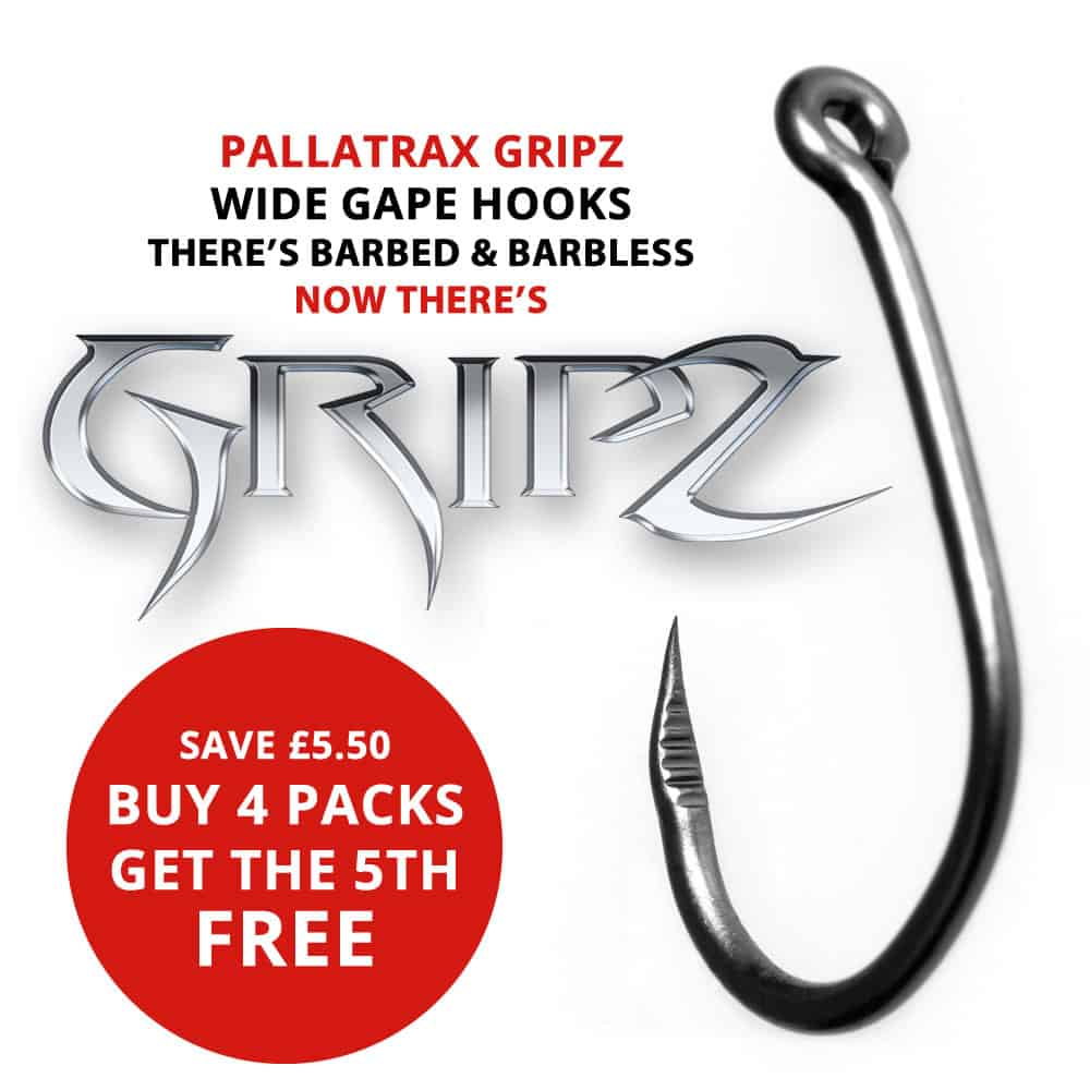 Pallatrax GRIPZ Fishing Hook Fluorocarbon Hair Rigs Barbed and Barbless Hooks
